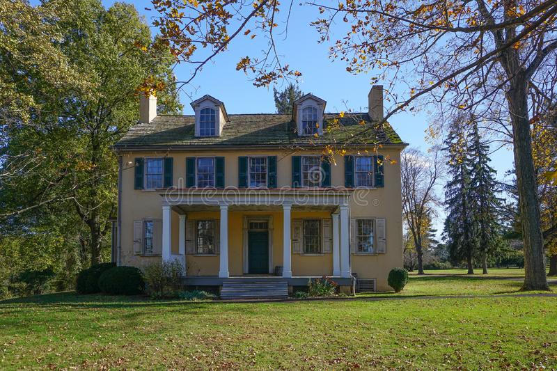 Washington Crossing, Pennsylvania: Mahlon K. Taylor House. Washington Crossing, PA: Mahlon K. Taylor House c. 1817, home of a founder of Taylorsville, now known stock images