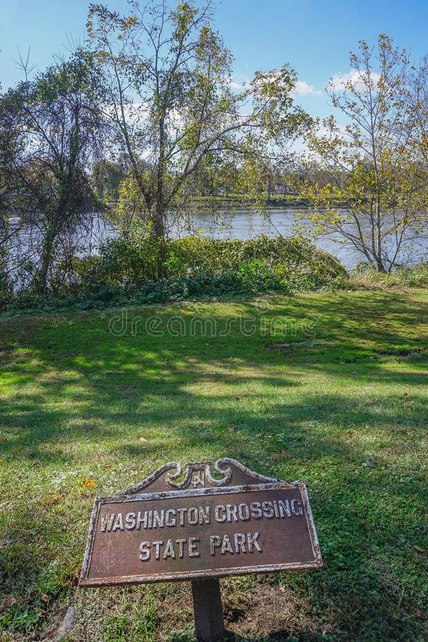 Washington Crossing State Park, Titusville, New Jersey. Washington Crossing, Titusville, NJ: State Park at the site of George Washington`s crossing of the royalty free stock photography
