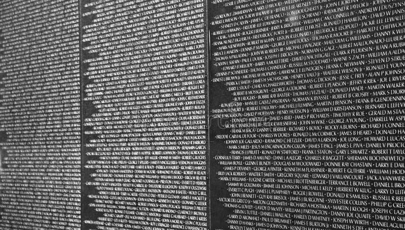 Detalle de los veteranos de Vietnam conmemorativos en la C.C. de Washington imagen de archivo libre de regalías