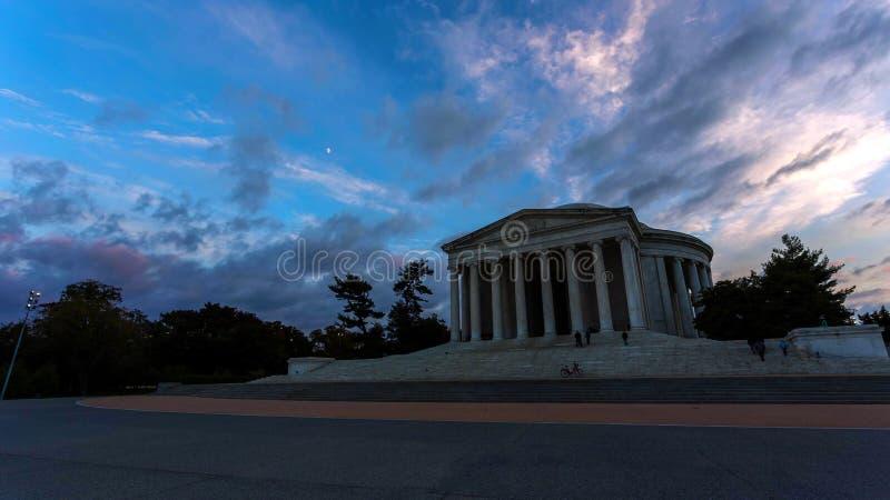 Washington, D C horizon met wegen en monumenten royalty-vrije stock fotografie