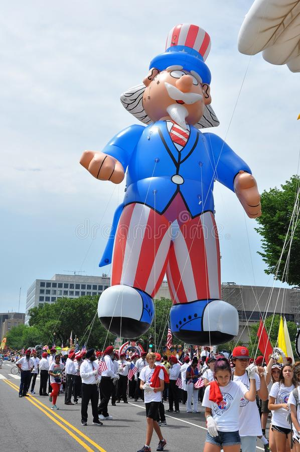Free WASHINGTON, D.C. - JULY 4, 2017: Giant Balloons Are Inflated For Participation In The 2017 National Independence Day Parade July 4 Stock Image - 100949311