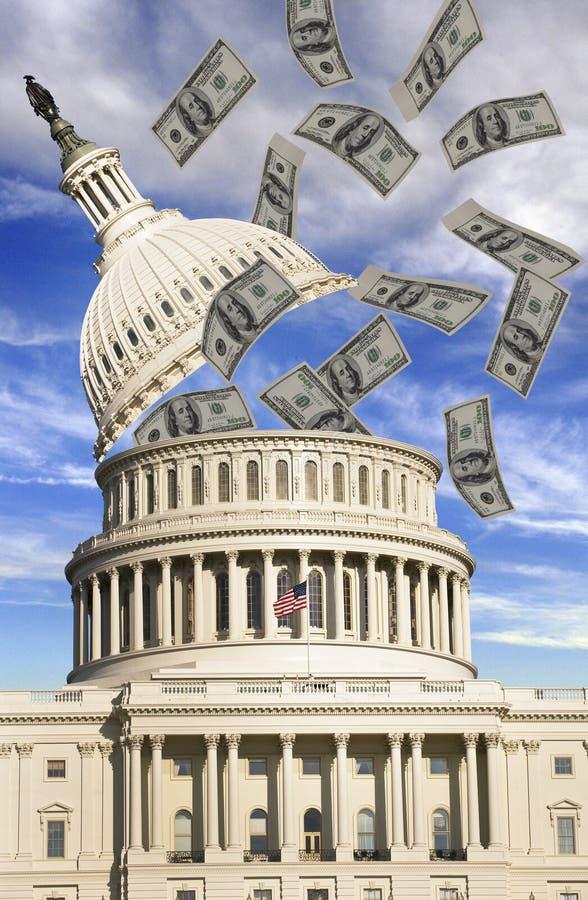 Washington D.C. Pengar. arkivbilder