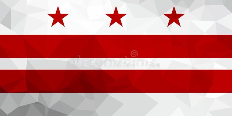 Washington, D C veelhoekige vlag Mozaïek moderne achtergrond Geometrisch ontwerp royalty-vrije illustratie