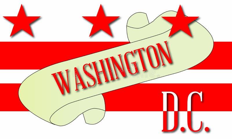Washington DC ślimacznicy mapa royalty ilustracja
