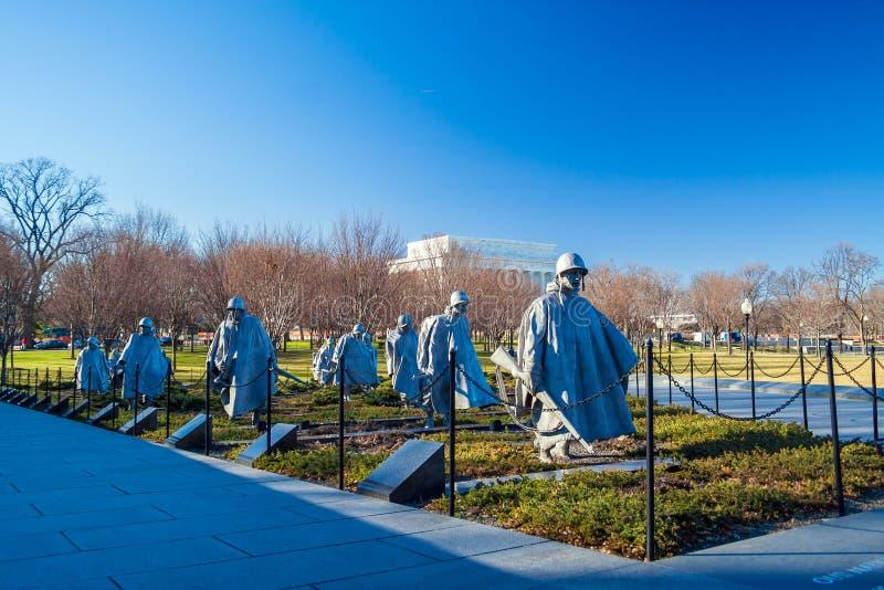 WASHINGTON DC, ΗΠΑ - 27 ΙΑΝΟΥΑΡΊΟΥ 2006: Παλαίμαχοι Memor Πολέμων της Κορέας στοκ φωτογραφία με δικαίωμα ελεύθερης χρήσης