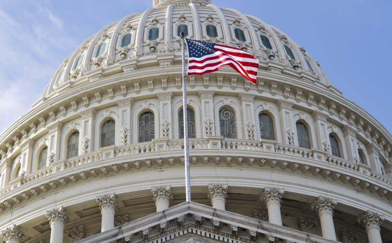 Washington DC, κτήριο Capitol στοκ εικόνα με δικαίωμα ελεύθερης χρήσης
