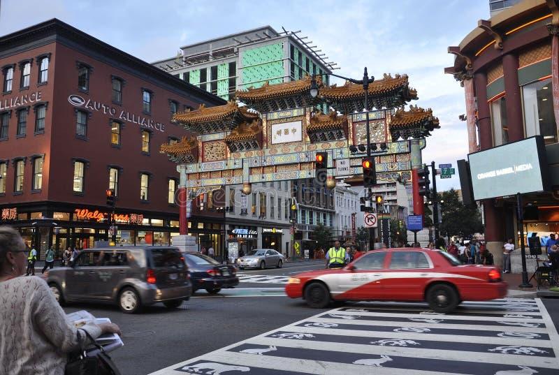 Washington DC, στις 5 Αυγούστου: Πόλης πύλη της Κίνας κεντρικός της Περιοχής της Κολούμπια της Ουάσιγκτον στοκ εικόνες