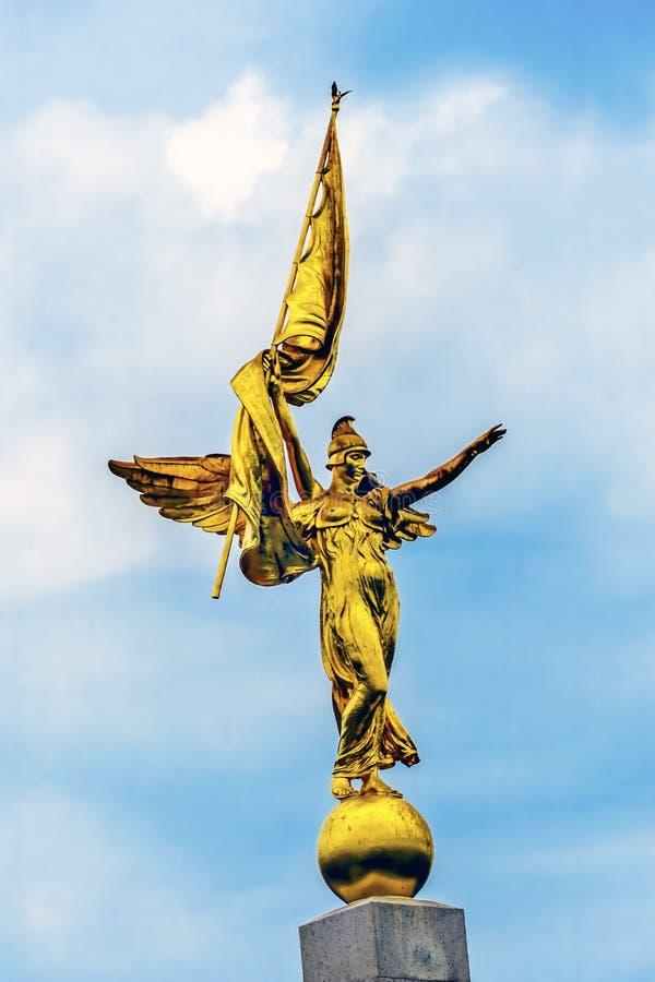 Washington DC alato dorato del memoriale di Victory Statue First Division Army immagine stock