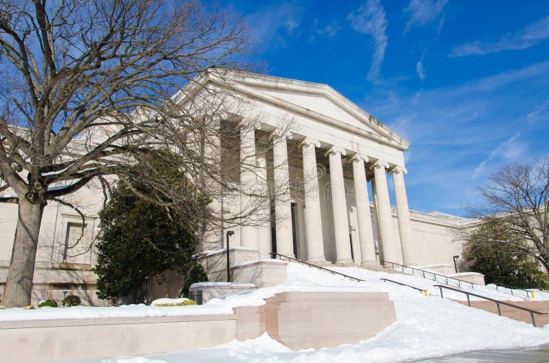 Washington DC após a tempestade da neve, em janeiro de 2016 fotos de stock royalty free