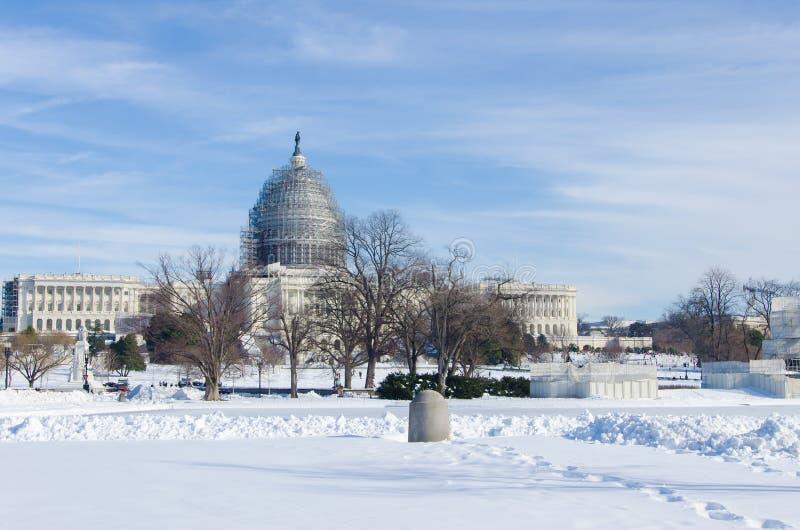 Washington DC após a tempestade da neve, em janeiro de 2016 foto de stock royalty free