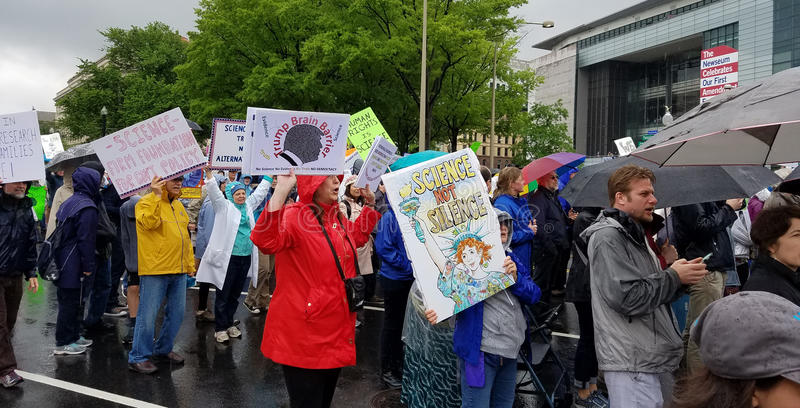 WASHINGTON DC - APRIL 22, 2017 March for Science royalty free stock photography