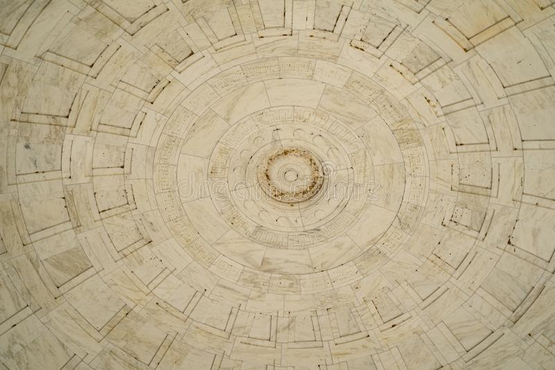 Washington, DC - August 4, 2019: District of Columbia War Memorial WWI. Ceiling close up.  stock photo