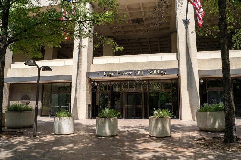 Washington, DC - August 4, 2019: Exterior of the J. Edgar Hoover FBI Building Headquarters in downtown DC.  stock photo