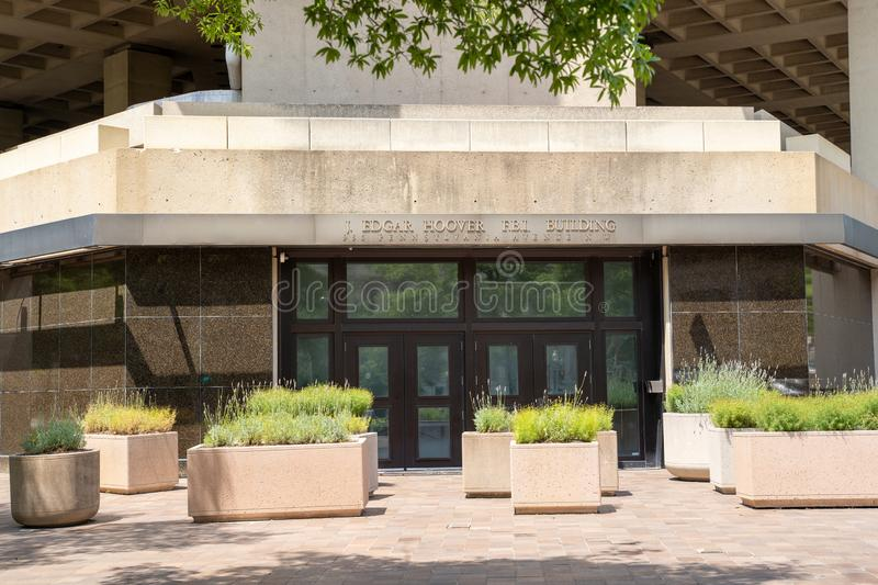 Washington, DC - August 4, 2019: Exterior of the J. Edgar Hoover FBI Building Headquarters in downtown DC. Exterior of the J. Edgar Hoover FBI Building stock images
