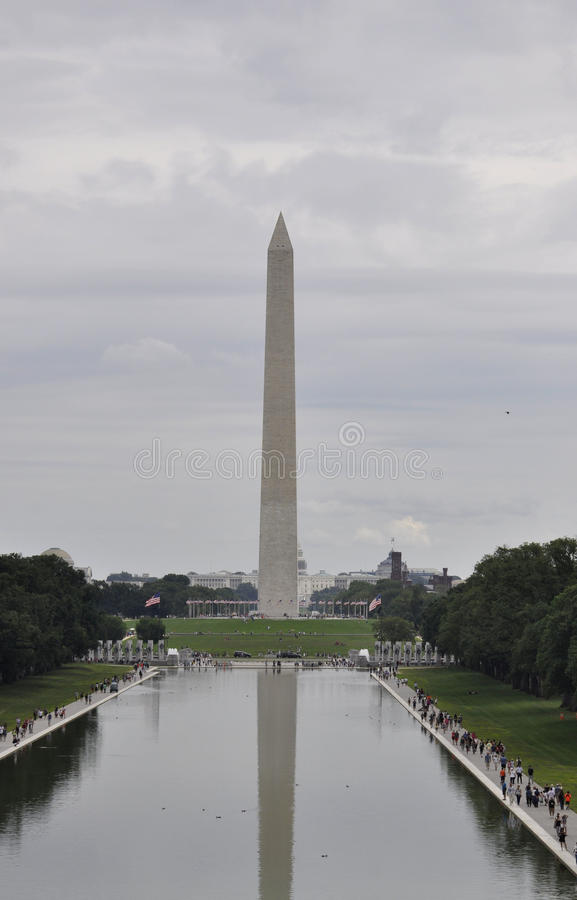 Washington DC,August 5th:Washington Obelisk in the National Mall from Washington District of Columbia. Washington Obelisk in the National Mall from Washington stock image