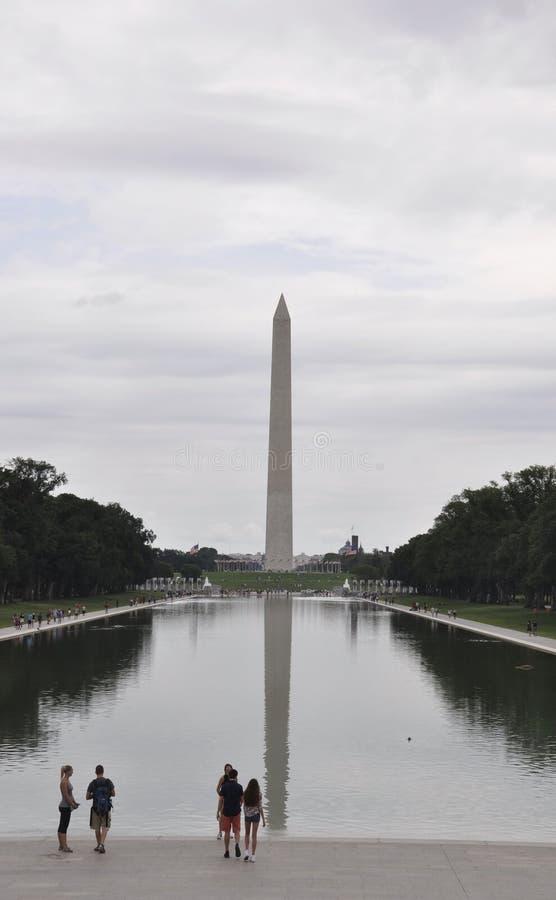 Washington DC,August 5th:Washington Obelisk in the National Mall from Washington District of Columbia. Washington Obelisk in the National Mall from Washington royalty free stock photography