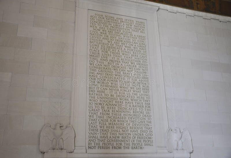 Washington DC Augusti 5th: Lincoln Memorial Murals från Washington District av Columbia fotografering för bildbyråer