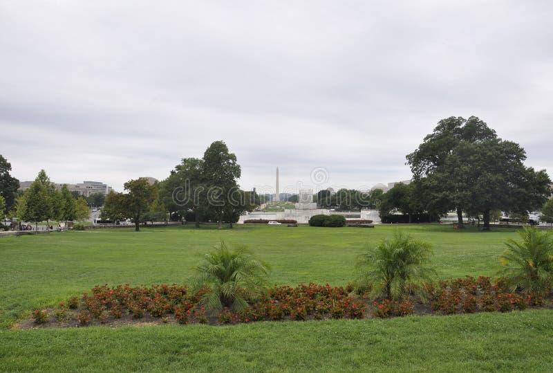 Washington DC Augusti 5th: Nationell galleriaträdgård från Washington District av Columbia royaltyfri foto