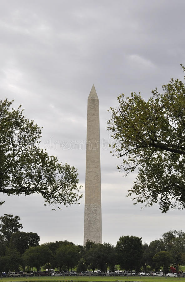 Washington DC Augusti 5th: Washington Obelisk från Washington District av Columbia arkivfoton