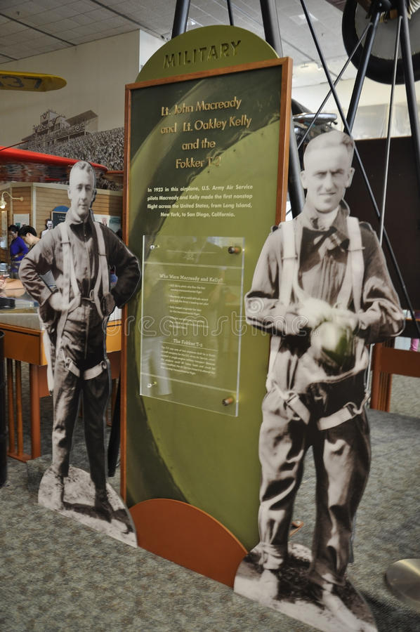 Washington DC, 5 Augustus: Militaire Tribune in de Nationale Lucht van Smithonian en Ruimtemuseum van Washington DC in de V.S. stock fotografie