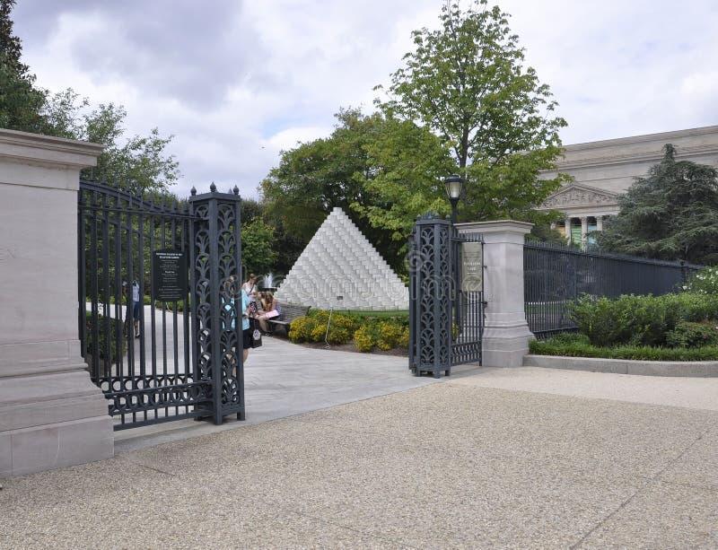 Washington DC, 5 Augustus: National Gallery van Art Sculpture Garden van Washington District van Colombia royalty-vrije stock afbeeldingen