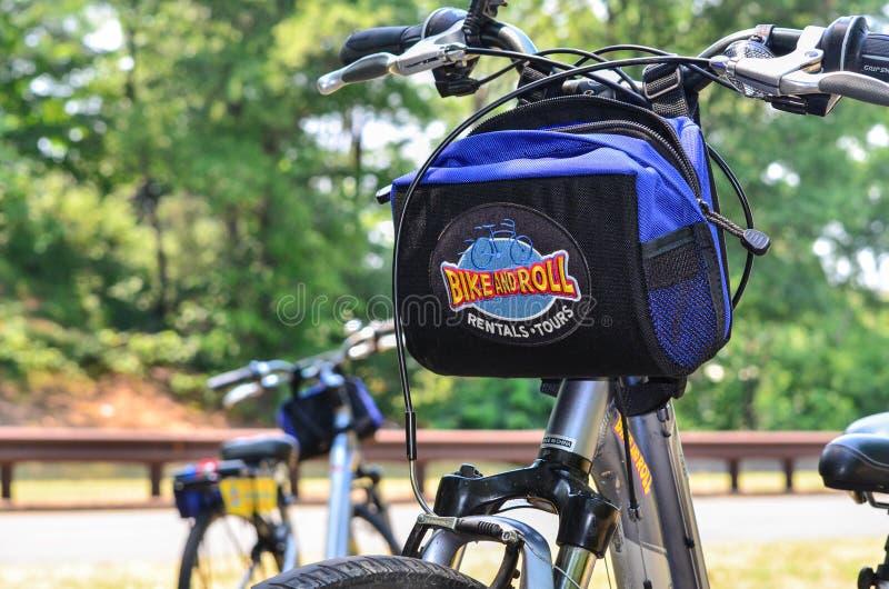 WASHINGTON DC: Bicykl od roweru i rolka jechać na rowerze do wynajęcia agencyjnego biznes opierającego się w DC i caters turyści, zdjęcie stock