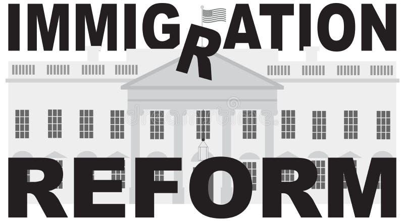 Washington DC bielu domu Imigracyjnej reformy wektor ilustracja wektor