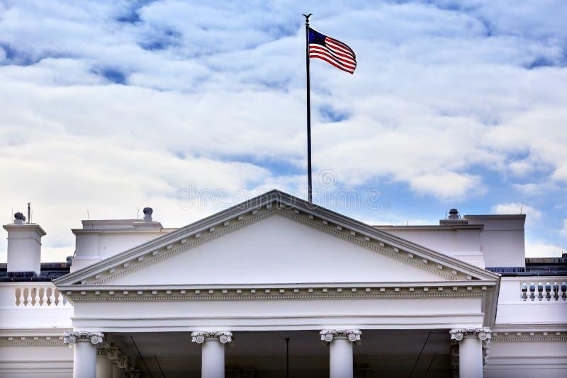 Washington DC branco da avenida de Pensilvânia da casa imagem de stock