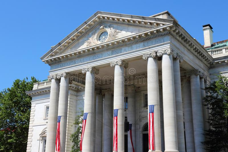Washington DC. Capital city of the United States. Memorial Continental Hall - colonial revival style architecture stock photo