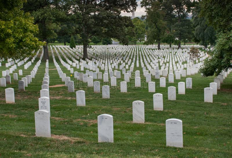Washington DC, capitale des Etats-Unis Cimetière national d'Arlington images stock