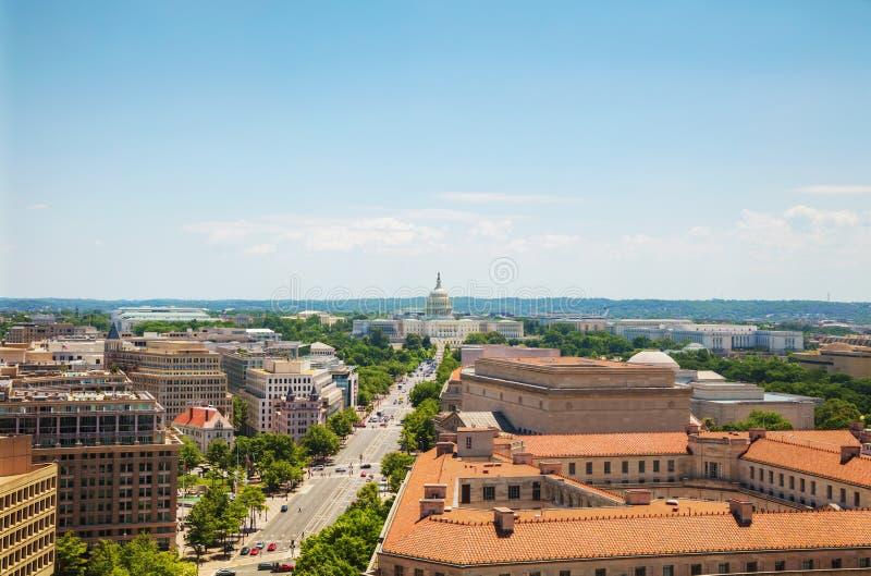 Washington, DC city aerial view stock image