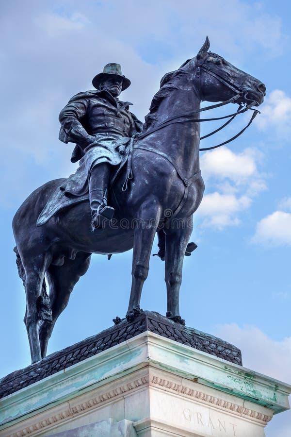 Washington DC Conmemorativo De Capitol Hill De La Estatua De Los E.E.U.U. Grant Fotografía de archivo