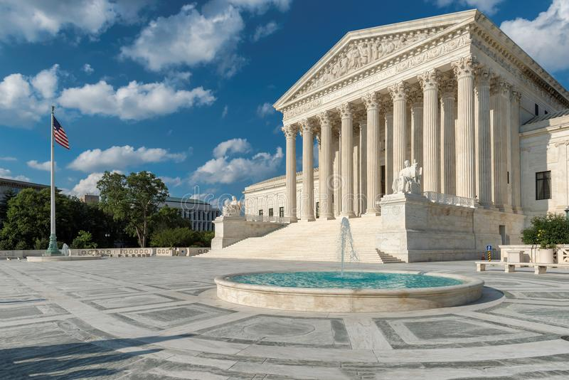 Washington DC, construção da corte suprema do Estados Unidos fotografia de stock royalty free