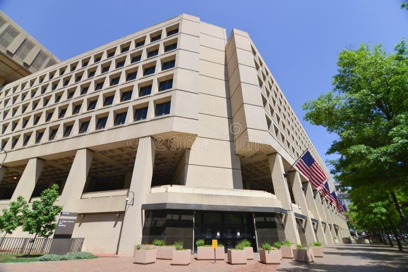 Washington DC - construção do FBI na avenida de Pensilvânia foto de stock