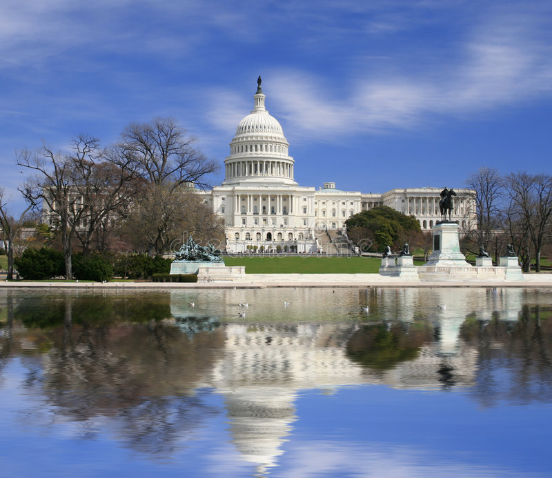 Washington DC, construction de capitol des USA images libres de droits