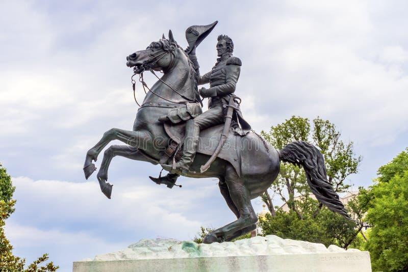 Washington DC d'avenue de Jackson Statue Lafayette Park Pennsylvania image libre de droits