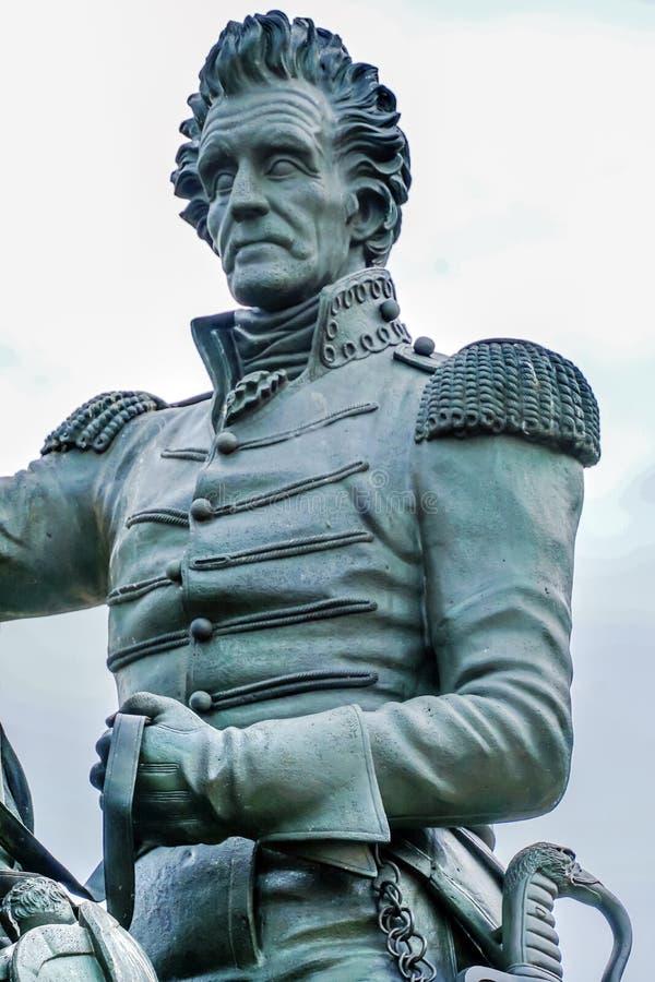 Washington DC d'avenue de Jackson Statue Lafayette Park Pennsylvania images libres de droits