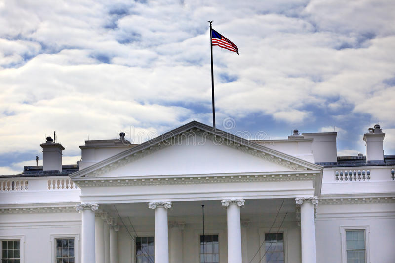 Washington DC d'avenue de la Pennsylvanie de la Maison Blanche photos libres de droits