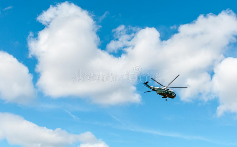 WASHINGTON DC: 1º DE ABRIL DE 2017: Estados Unidos Marine One Helicopte fotos de stock royalty free