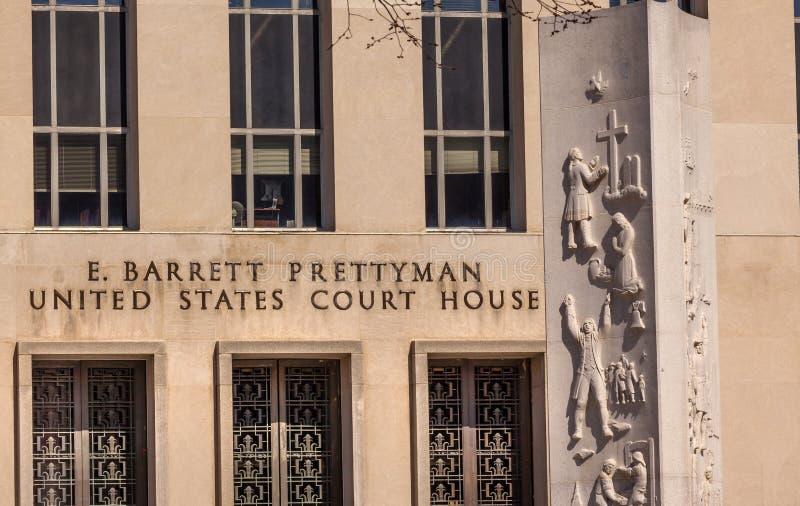 Washington DC de bâtiment de cour fédérale photos libres de droits