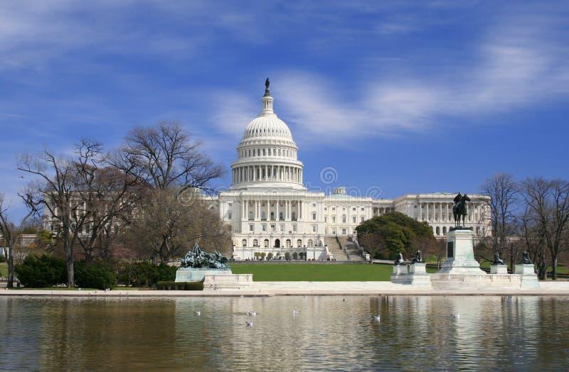 Washington DC, de bouw van het Capitool van de V.S. stock afbeelding