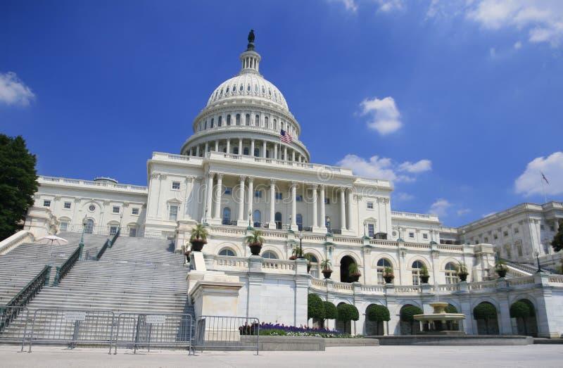 Washington DC, de bouw van het Capitool van de V.S. royalty-vrije stock fotografie