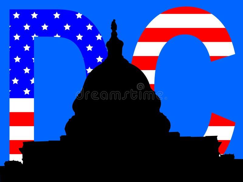Washington DC de capital do edifício ilustração stock