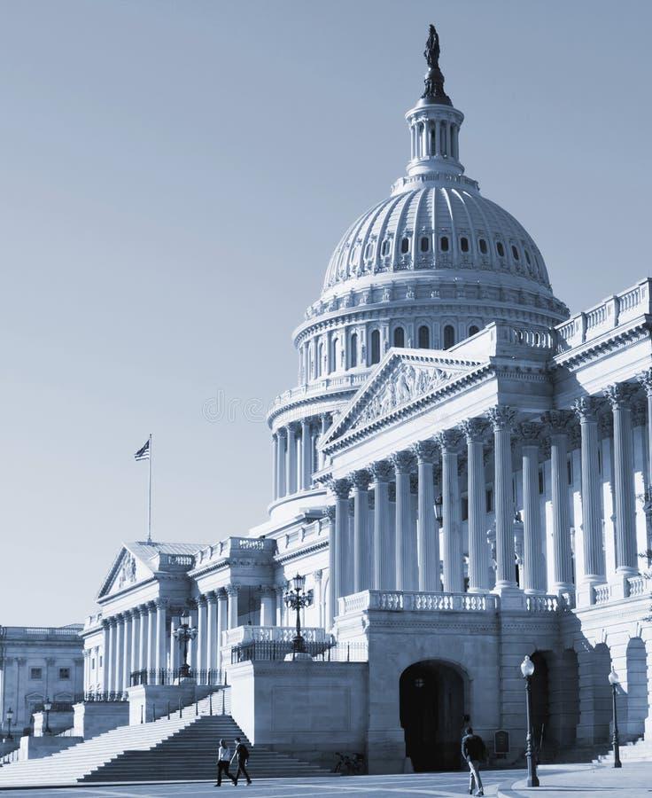 Washington DC, de Capitoolbouw stock afbeeldingen