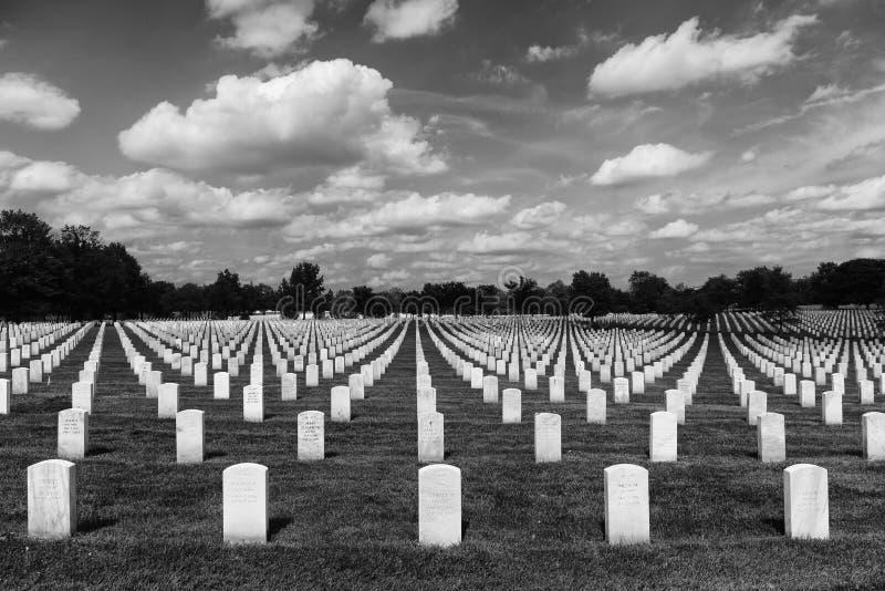 Washington, DC - 1 de junio de 2018: Cementerio nacional de Arlington imágenes de archivo libres de regalías