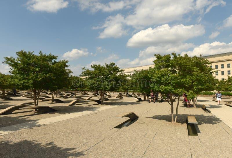 Washington, DC - 1 de junio de 2018: El monumento de Pentágono ofrece 1 foto de archivo