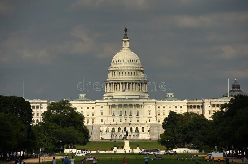 Washington, DC - 1 de junio de 2018: Opinión sobre los Estados Unidos Capit imágenes de archivo libres de regalías