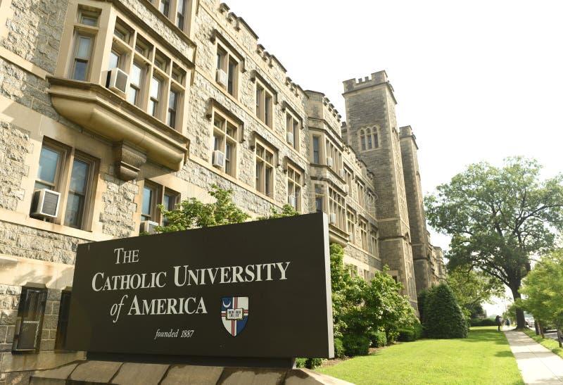 Washington, DC - 1 de junio de 2018: Universidad católica de América imagen de archivo libre de regalías