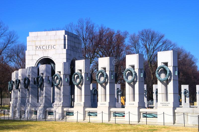 Washington DC de mémorial de la deuxième guerre mondiale photographie stock libre de droits