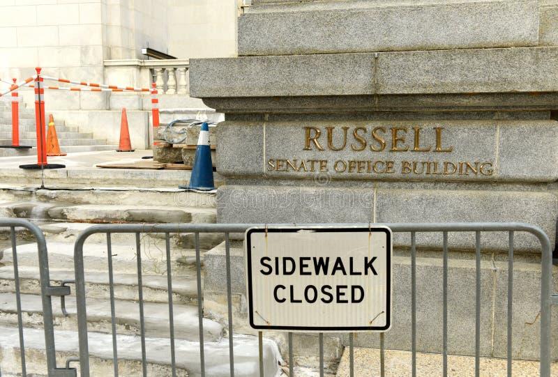Washington, DC - 31 de mayo de 2018: Russell Senate Office Building adentro imagenes de archivo